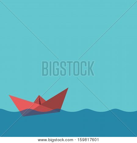 One Red Paper Boat