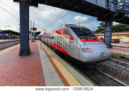 Florence ITALY- September 10 2016: Speed train