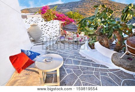 the castle of Sifnos island Cyclades Greece
