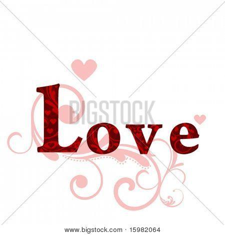 love decorative text
