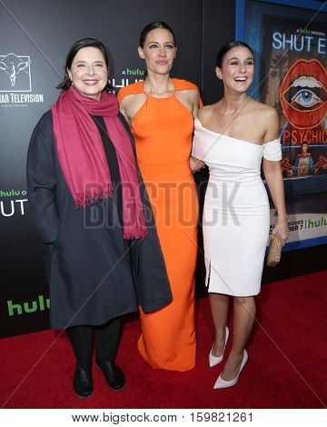 LOS ANGELES - DEC 1:  Isabella Rossellini, KaDee Strickland, Emmanuelle Chriqui at the Premiere Of Hulu's