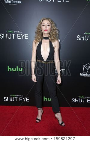 LOS ANGELES - DEC 1:  Leah Gibson at the Premiere Of Hulu's