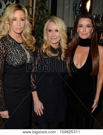 LOS ANGELES - DEC 2:  Camille Grammer, Kim Richards, Kyle Richards at the