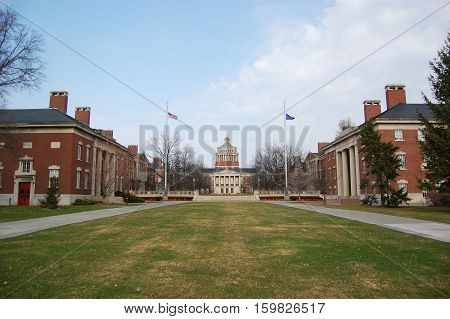 Rush Rhees Library in University of Rochester, New York State, USA