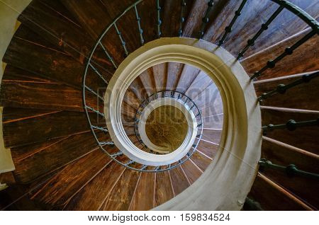 Spiral Stairs In Cathedral Of Assumption Of Our Lady And Saint John The Baptist And Former Monastery