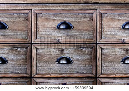 Old wooden vintage chest of drawersม, Old wooden drawer
