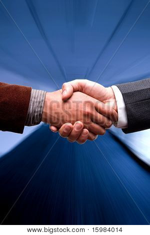 business handshake at the airport or office background