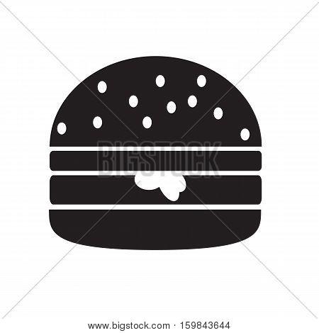 hamburger icon isolated on white background. hamburger sign.