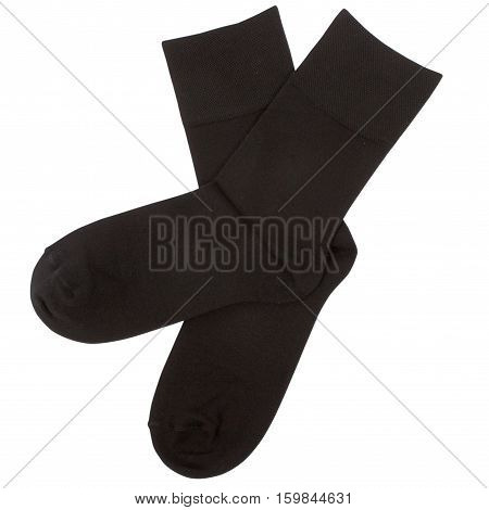 Pair of socks. Isolated on a white background. Clipping paths included.