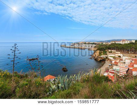 Summer Sunshiny Sea Coast View (palamos, Spain).