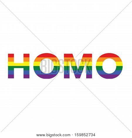 Homo: Rainbow Color Calligraphy