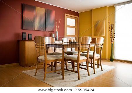 Inredning och design-serien: moderna färgstarka matsal