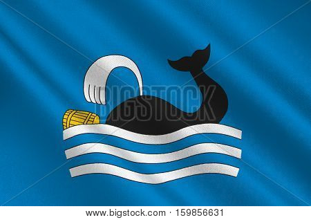 Flag of Molde is a city and municipality in Romsdal in More og Romsdal county Norway. 3d illustration