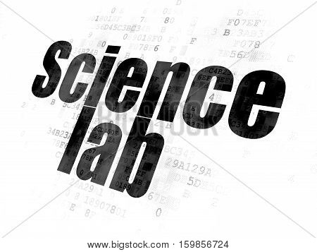 Science concept: Pixelated black text Science Lab on Digital background