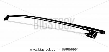 Fiddlestick for Violin. Isolated object on a white background. Vector illustration.