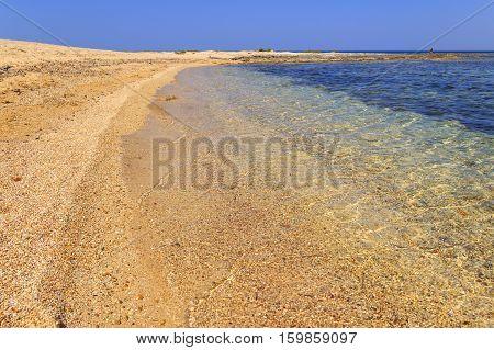 SUMMERTIME. The most beautiful sandy beaches of Apulia:  Porto Cesareo beach.-ITALY (Salento)-