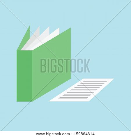 Folder document paper icon vector by illustration.
