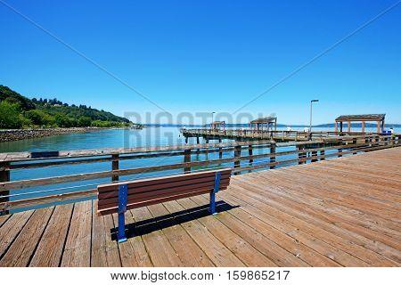 Tacoma summer in  Washington State. Public Park.