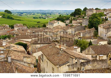 Saint Emilion French village UNESCO heritage, famous for the red wine.