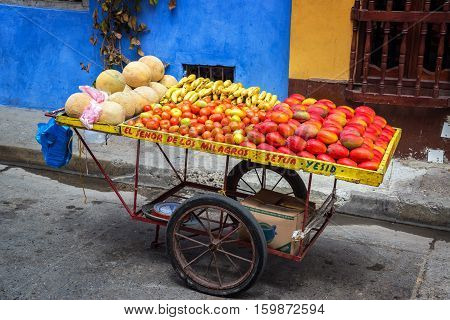 Fruit Cart In Cartagena