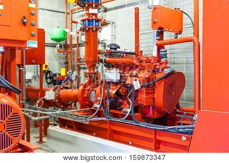 burning diesel generator for a large building