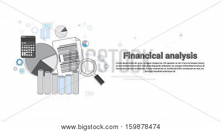 Financial Analysis Business Web Banner Vector Illustration