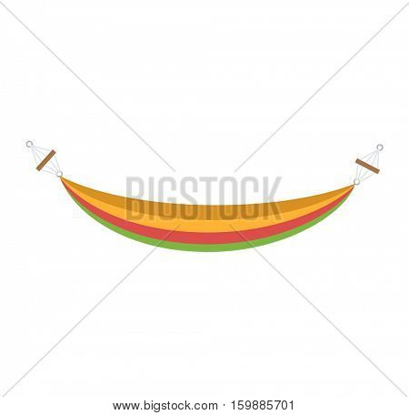 Vector bed hammock isolated.
