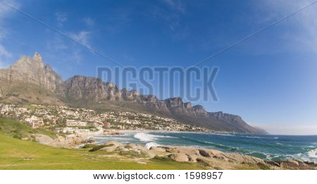 Twelve Apostles Cape Town On Sunny Day