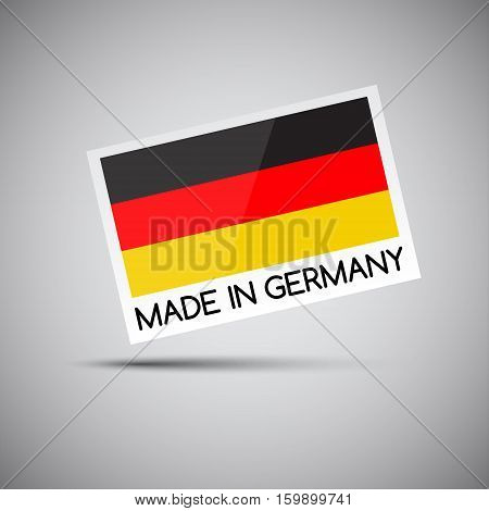 Vector card Made in Germany with German flag vector illustration for you business