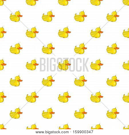 Rubber duck pattern. Cartoon illustration of rubber duck vector pattern for web