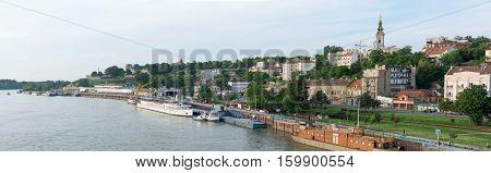 Belgrade, Serbia - May 27, 2016: Belgrade Panorama Of The Famous View With Sava River And Kalemegdan