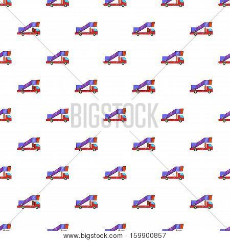 Passenger gangway pattern. Cartoon illustration of passenger gangway vector pattern for web