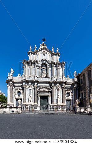 Catania Cathedral In Catania, Sicily, Italy