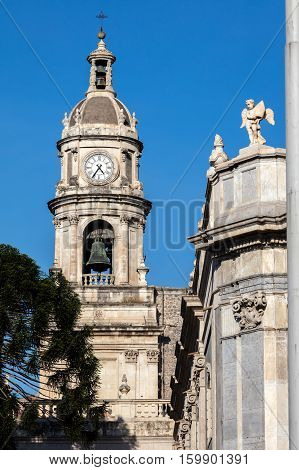 Bell Tower Of The Catania Cathedral