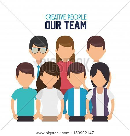 creative people our team vector illustration design