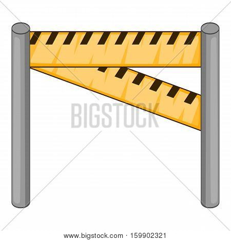 Traffic barrier icon. Cartoon illustration of traffic barrier vector icon for web design