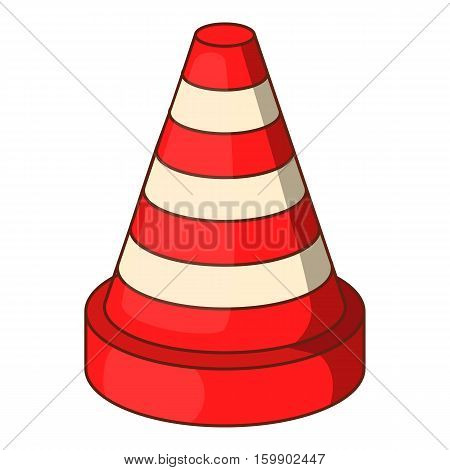 Traffic cone icon. Cartoon illustration of traffic cone vector icon for web design