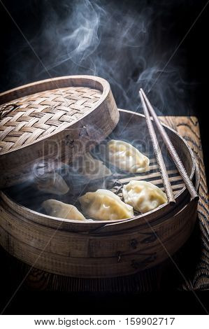 Enjoy Your Chinese Dumplings In Bamboo Steamer