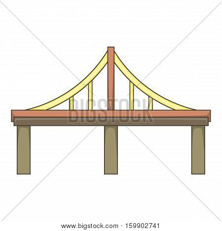 Steel bridge icon. Cartoon illustration of bridge vector icon for web design