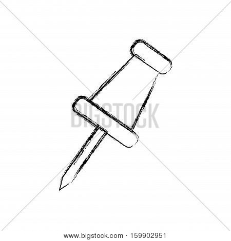 Pin icon. Office supplies object and workforce theme. Isolated design. Vector illustration