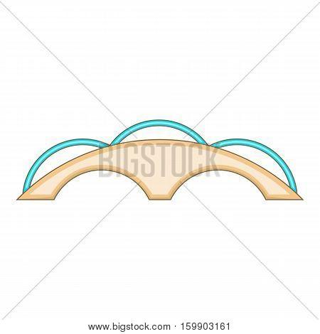 Small bridge icon. Cartoon illustration of bridge vector icon for web design