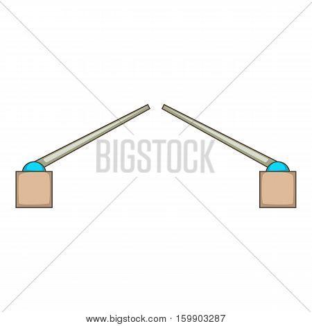 Drawbridge icon. Cartoon illustration of bridge vector icon for web design