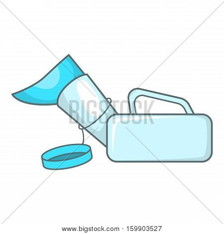 Urinal pot for the disabled icon. Cartoon illustration of urinal pot for disabled vector icon for web design