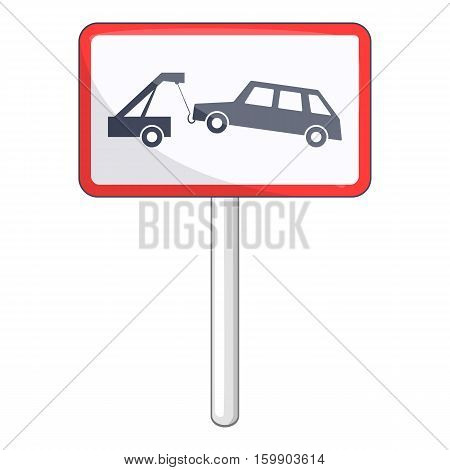 Tow away no parking sign icon. Cartoon illustration of no parking sign vector icon for web design