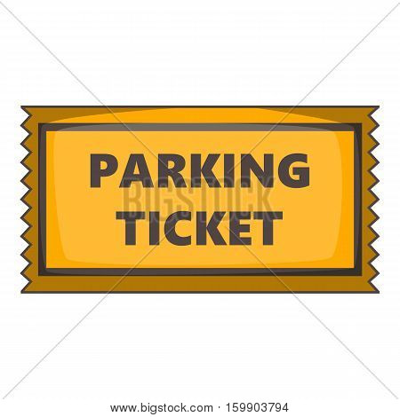 Parking ticket icon. Cartoon illustration of parking ticket vector icon for web design
