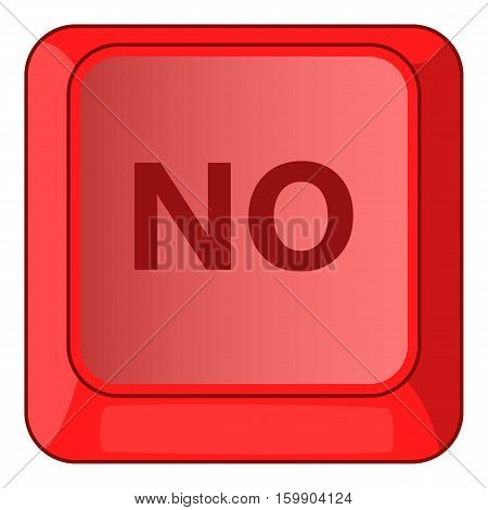 No red button icon. Cartoon illustration of no red button vector icon for web