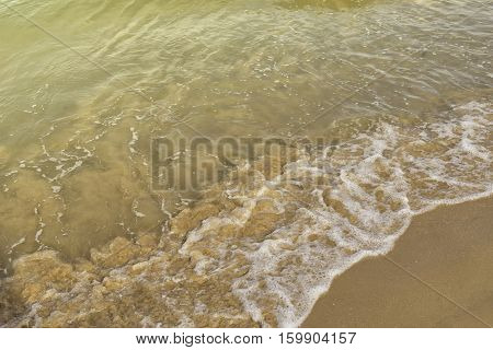 abstract sand and wave with bubble for background - can use to display or montage on product