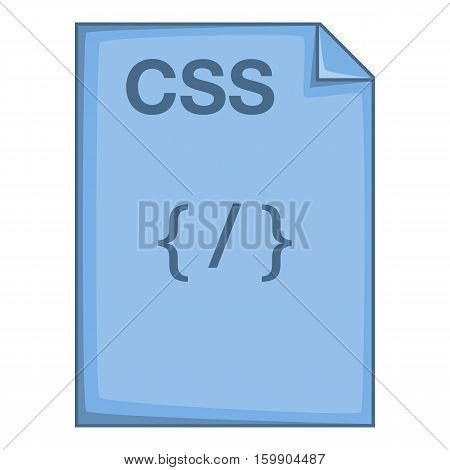 CSS file icon. Cartoon illustration of CSS file vector icon for web