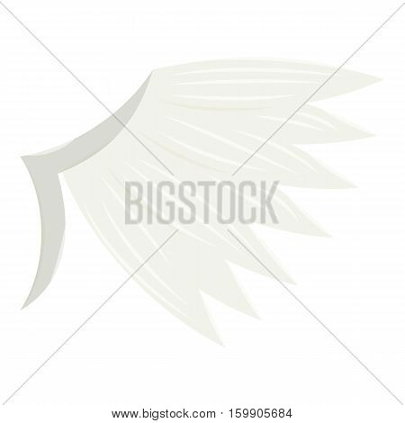 White wing icon. Cartoon illustration of white wing vector icon for web