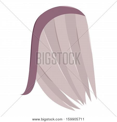 Wing with long feathers icon. Cartoon illustration of wing with long feathers vector icon for web